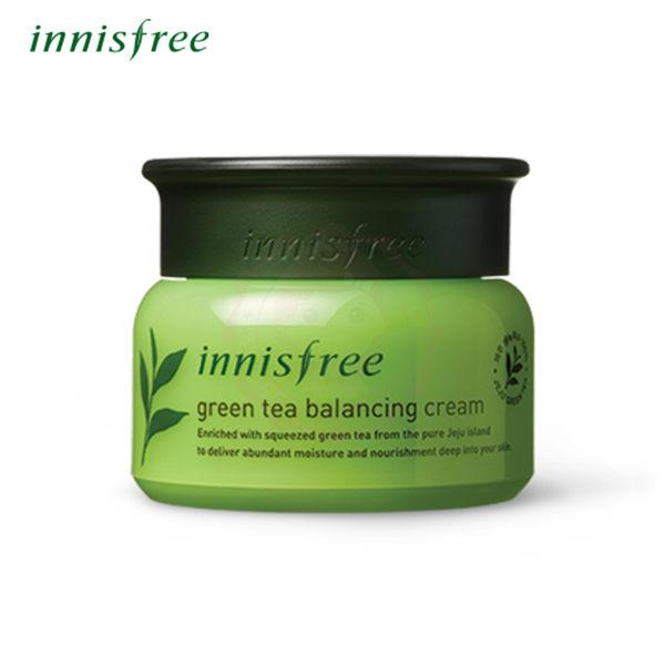 韓國 innisfree 綠茶水平衡保濕面霜(50ml)【庫奇小舖】