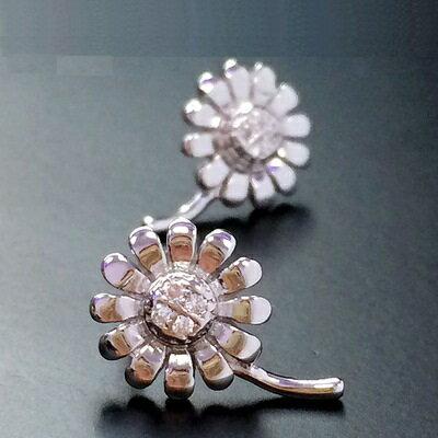 ~925純銀耳環耳飾~精緻迷人花朵 生日情人節 女飾品73gq8~ ~~米蘭 ~