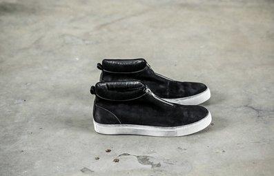 FINDSENSE服飾:FINDSENSEMD日系高品質時尚潮高幫牛皮低跟休閒鞋板鞋
