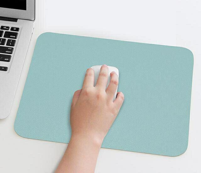 滑鼠墊 純色鼠標墊女簡約游戲辦公電競桌墊小號墊PU皮防水墊可愛