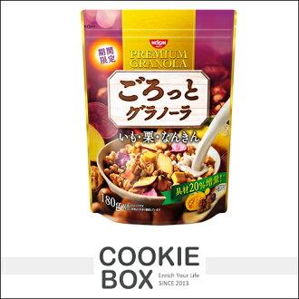 日本 日清 綜合栗子 穀片 地瓜 營養 180g 麥片 穀物 早餐 點心 期間限定 *餅乾盒子*