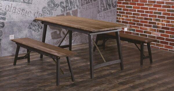 【石川家居】JF-470-2薩克斯4.6尺美式實木餐桌(不含餐椅和其他商品)台北到高雄搭配車趟免運