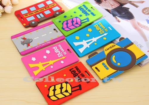 【F13102801】韓國 卡通安全防混行李吊牌 便攜旅行箱包包吊牌