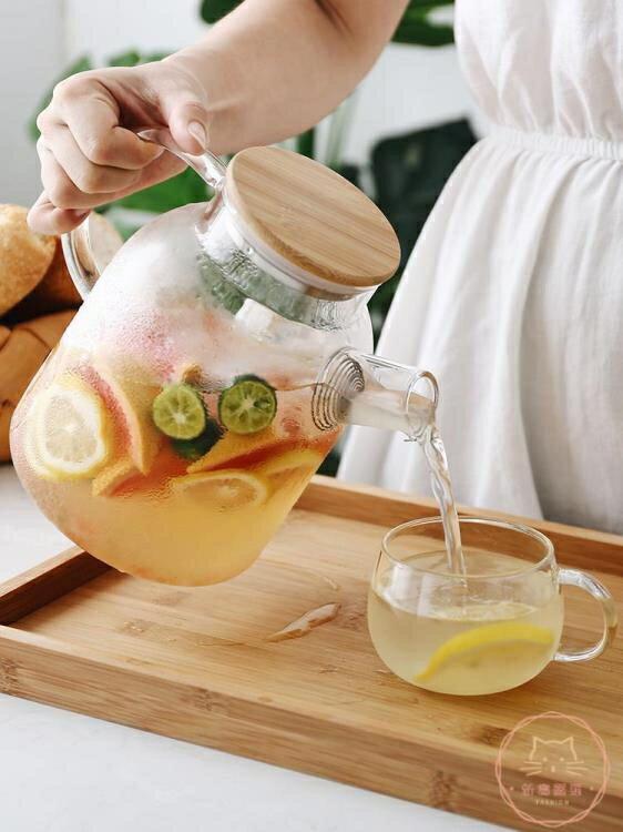 冷水壺 日式玻璃冷水壺套裝耐熱泡茶壺涼開水杯壺家用涼水壺電陶爐壺杯子