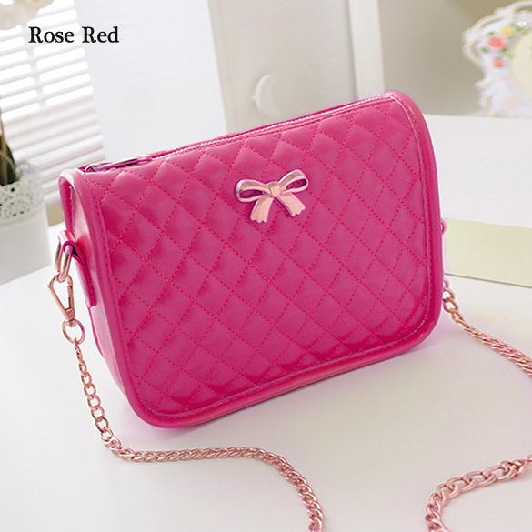Synthetic Leather Casual Bow Shoulder Bag 2