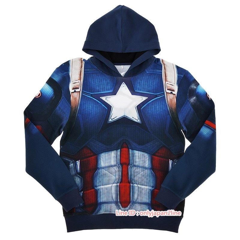 【真愛日本】17021300025專賣店MARVEL造型衣-美國隊長XL+BAA 迪士尼 專賣店 限定 帽T 造型衣
