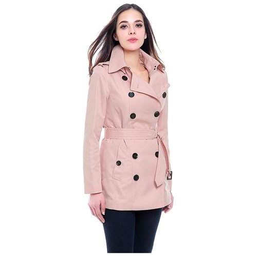 "BGSD Women's ""Tori"" Classic Hooded Short Trench Coat 2"