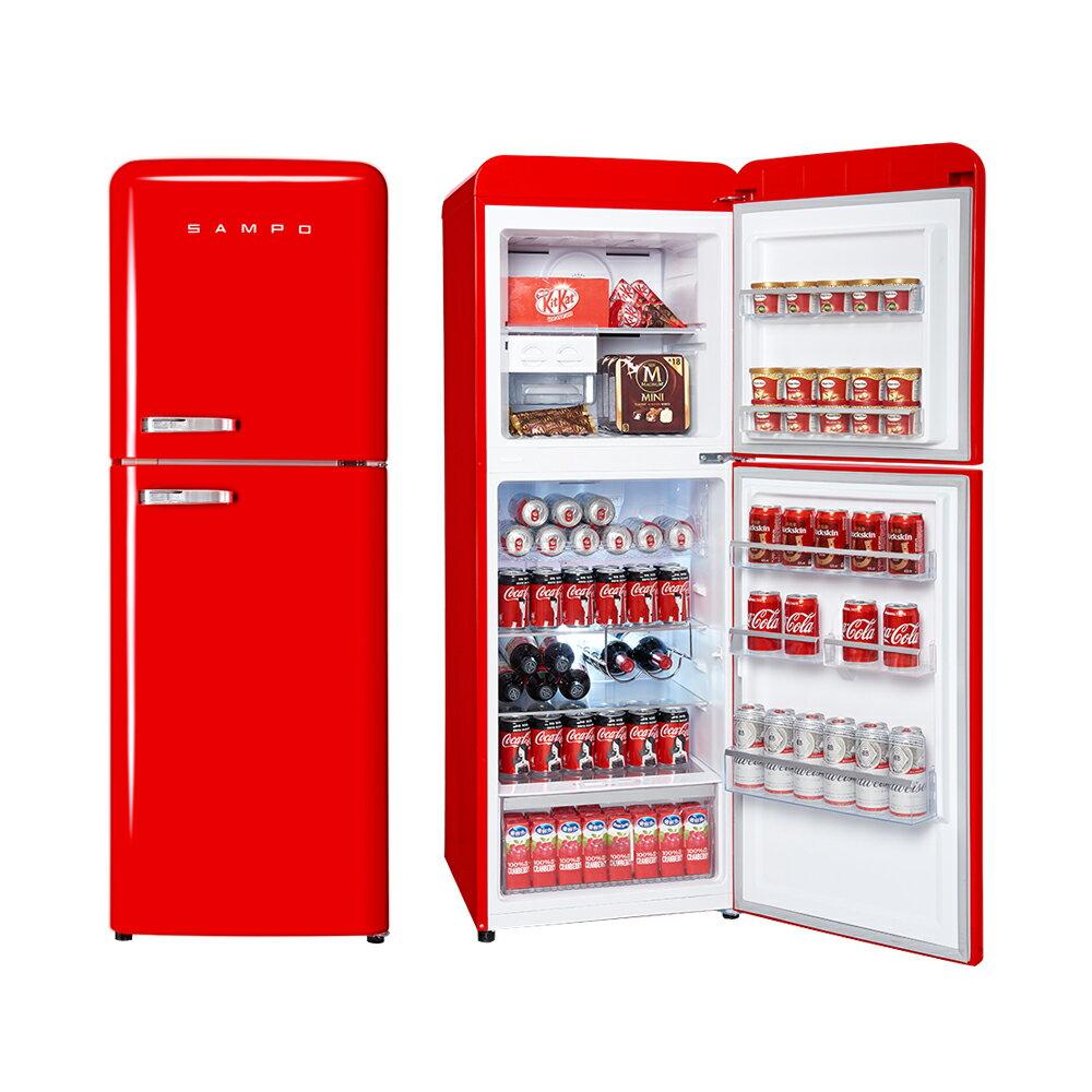 SAMPO 聲寶 ( SR-C21D/R ) 210公升 歐風美型變頻雙門冰箱-緋麗紅《送基本安裝、舊機回收》 [可以買]