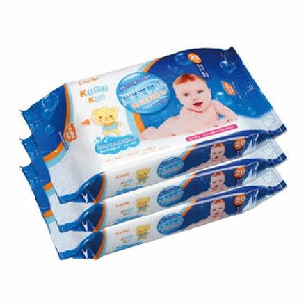 Combi 康貝海洋深層水嬰兒柔濕巾20抽隨手包(3入)【悅兒園婦幼生活館】
