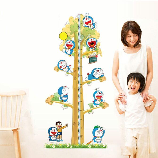 英倫家居 哆啦a夢 小叮噹 大雄 身高量尺 大尺寸無痕設計壁貼 不傷牆面 展覽 布置 創意 DIY 裝潢 兒童房裝飾