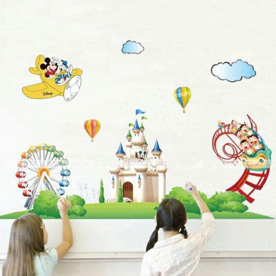 Decor.H 迪士尼樂園 卡通設計壁貼 米奇 米妮 無痕不傷牆面 兒童 房間 裝飾 展覽 布置 創意 DIY 裝潢 防水 Disney