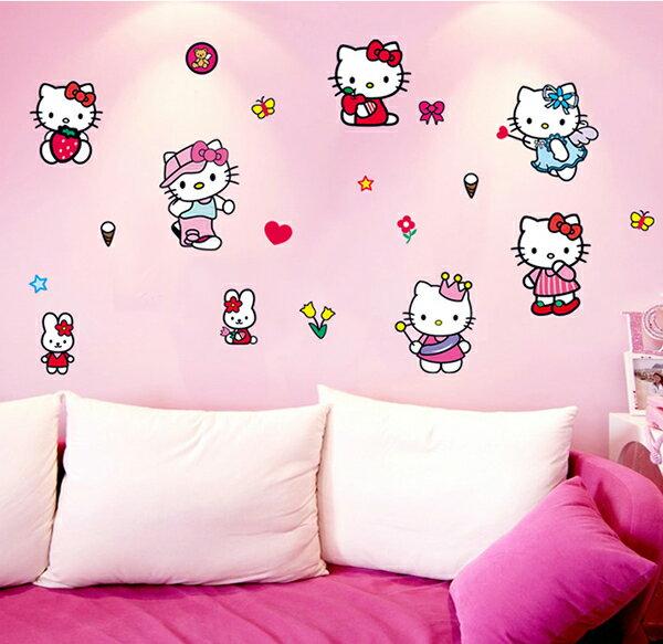 Decor.H 無痕設計壁貼 Hello Kitty 凱蒂貓 不傷牆面 展覽 布置 創意 DIY 裝潢 裝飾 防水汽車貼