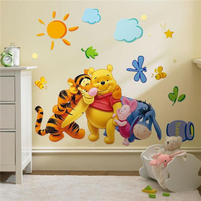 Decor.H 卡通設計壁貼 小熊維尼 跳跳虎 依唷 無痕不傷牆面 兒童 房間 裝飾 展覽 布置 創意 DIY 裝潢 防水 Winnie