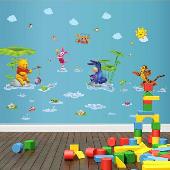 Decor.H 卡通設計壁貼 小熊維尼 跳跳虎 屹耳 釣魚 無痕不傷牆面 兒童 房間 裝飾 展覽 布置 創意 DIY 裝潢 防水 Winnie