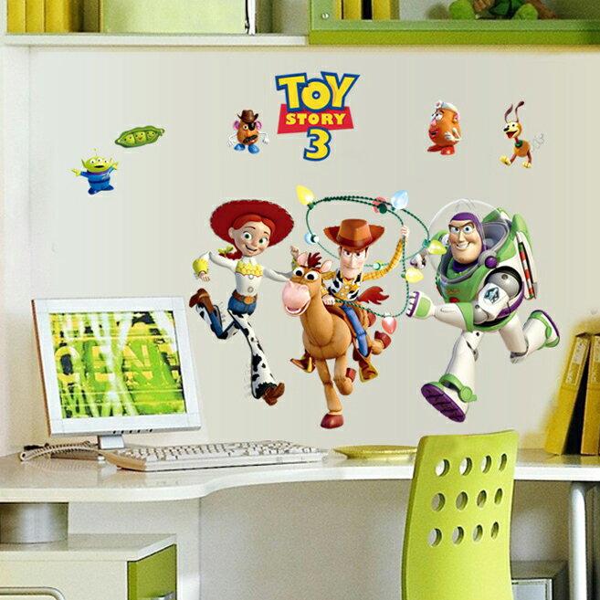 Decor.H 卡通 壁貼 玩具總動員 胡迪 巴斯光年 無痕不傷牆面 兒童 房間 裝飾 展