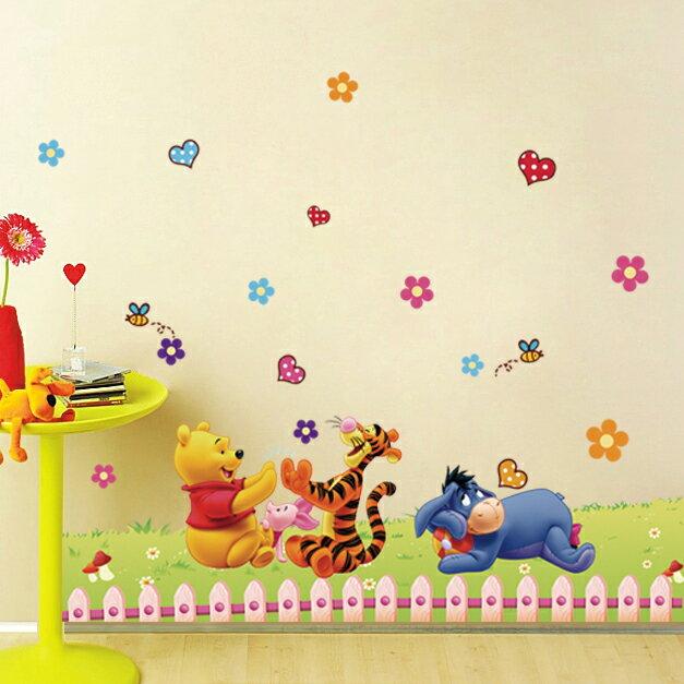 Decor.H 卡通設計壁貼 小熊維尼 跳跳虎 屹耳 草皮遊戲 無痕不傷牆面 兒童 房間 裝飾 展覽 布置 創意 DIY 裝潢 防水 Winnie