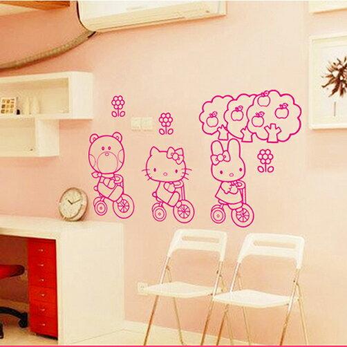 Decor.H 卡通無痕壁貼 Hello Kitty 凱蒂貓 美樂蒂 不傷牆面 展覽 布置 創意 設計 DIY 裝潢 裝飾 防水汽車貼