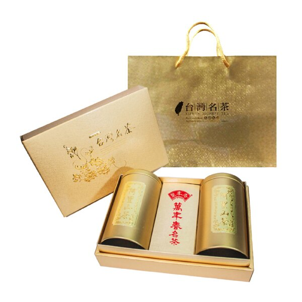《萬年春》金台灣名茶茶葉禮盒150公克(g)*2罐 / 盒 1
