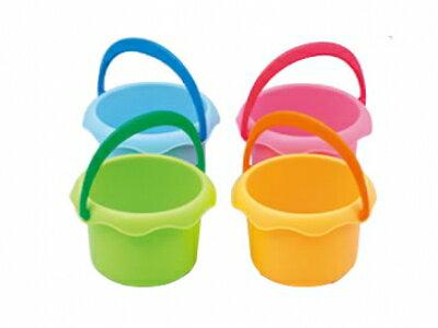 樂雅 Flex 沙灘系列 mini水桶/沙攤玩具(粉/藍/綠/橘)