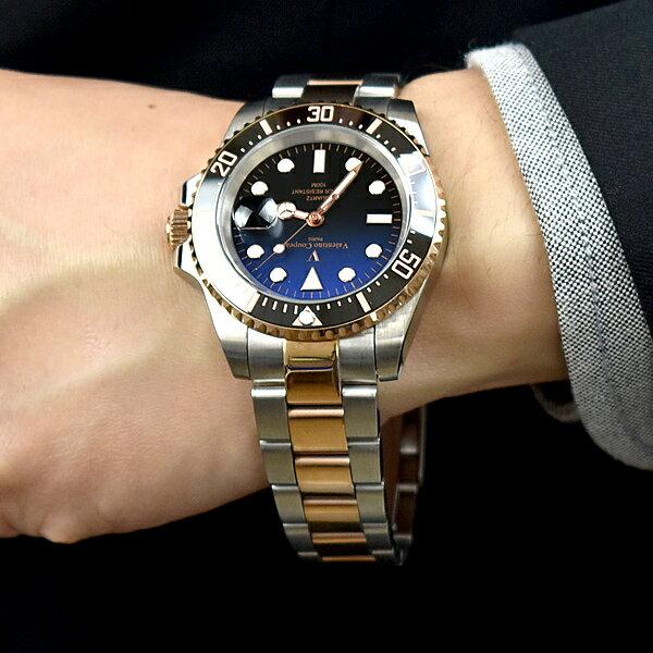 水鬼錶 范倫鐵諾.古柏 玫金雙色錶帶鋼錶【NEV99】 - 限時優惠好康折扣
