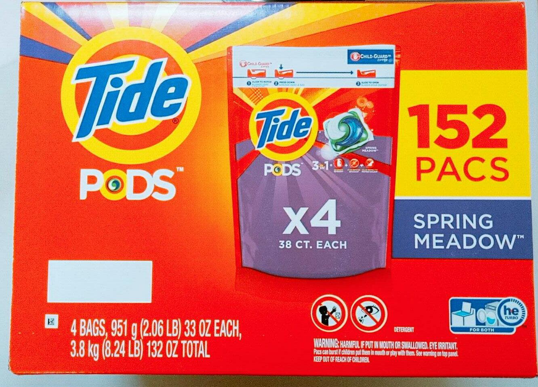 好市多 Tide汰漬洗衣膠囊 春天草地香 42顆x4入共168顆 洗衣 去漬 芳香