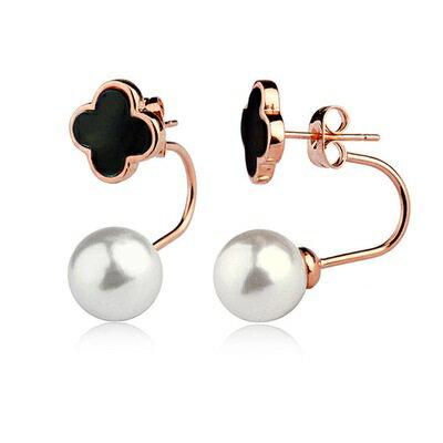 玫瑰金耳環925純銀鑲鑽耳飾 ~精緻典雅可愛花朵七夕情人節 女飾品4色73gs239~ ~