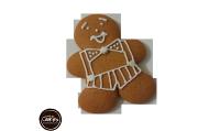 分享幸福的婚禮小物推薦喜糖_餅乾_伴手禮_糕點推薦【裸餅乾Naked Cookies】薑餅人(白線條)6入-創意手工糖霜餅乾,婚禮小物/生日/活動/收涎/彌月