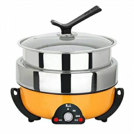 【SUNHOW上豪】3.5L不鏽鋼三層火烤料理鍋EC-3560