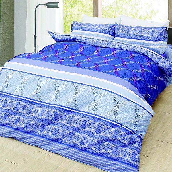 【靜謐藍洋】MIT天鵝絨吸濕排汗床包薄被套組