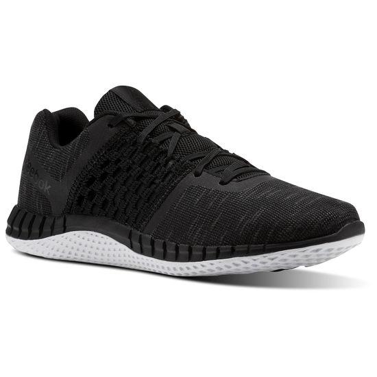 REEBOKPRINTRUNPAIHO男鞋慢跑路跑編織輕量舒適基本款黑白【運動世界】CN0411