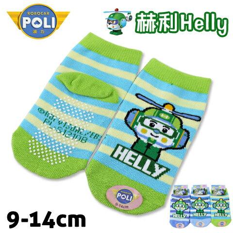 直版童襪 救援小英雄波力 赫利 直昇機條紋款 台灣製 POLI