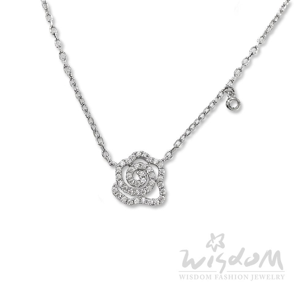 威世登時尚珠寶-奧斯丁薔薇銀小套鍊 送禮首選 ZSB00061-BFHX