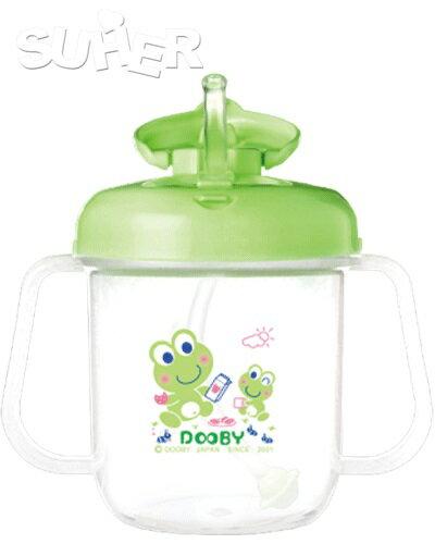 『121婦嬰用品館』大眼蛙 DOOBY第三階段吸管練習杯280cc  粉/綠 0