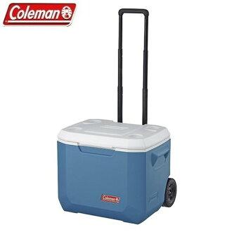 [ Coleman ] 47L Xtreme 冷冽藍拖輪冰箱 / 五日鮮 / 保冷箱 / 冰箱 / 冰筒 / 公司貨 CM-3087