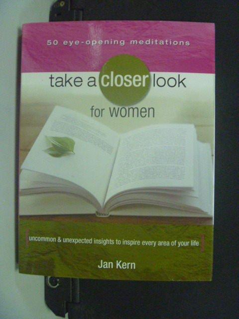 【書寶二手書T6/兩性關係_MGO】Take a Closer Look for Women