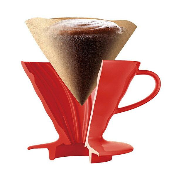 HARIO V60陶瓷濾杯(紅色)1~2杯VDC-01R 1