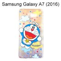 小叮噹週邊商品推薦哆啦A夢透明軟殼 [漸層雲朵] Samsung A710Y Galaxy A7 (2016) 小叮噹【正版授權】