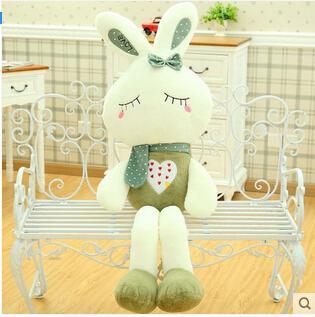 毛絨玩具兔子流氓兔小白兔公仔兒童玩偶DL14389『伊人雅舍』
