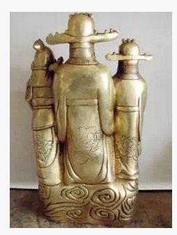 開光銅風水銅器家居裝飾工藝品擺件五路財神爺招財進寶鎮宅化煞