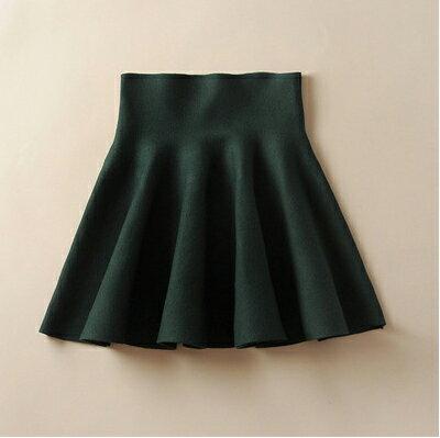 圓裙 - 鬆緊高腰針織傘裙  /  短裙《6色》藍色巴黎【23251 】 2