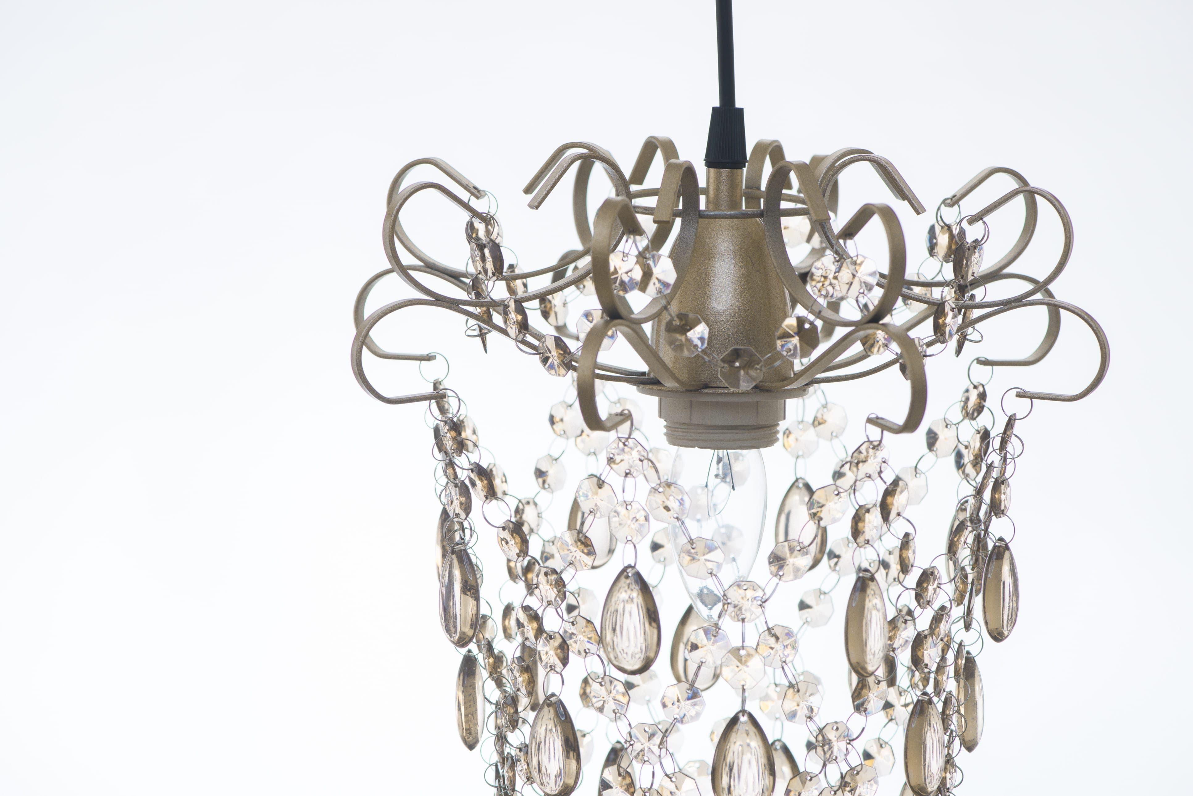 玫瑰金扁鐵框壓克力珠吊燈-BNL00049 1