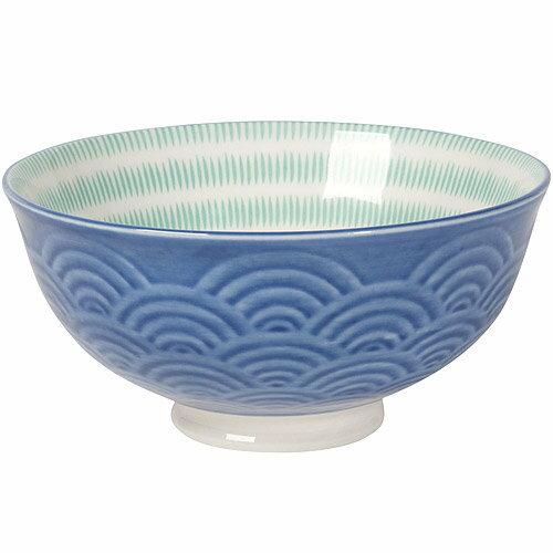 《NOW》波紋餐碗(藍)