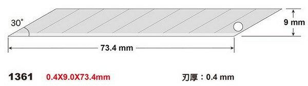SDI 手牌 NO.1361 專業用30度斜角美工刀片/10大盒入(一盒10管一管10片)共1000片入{定60} 筆刀刀片 日本特殊鋼
