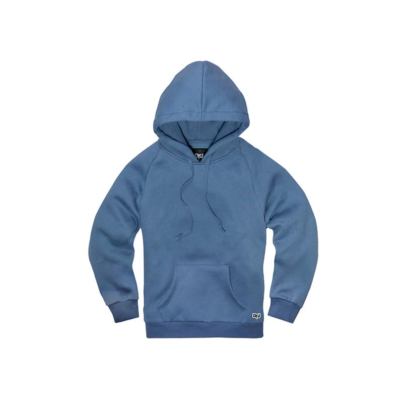 DrJ素面帽T  電繡ICON   藍灰色( 男/女款皆有)