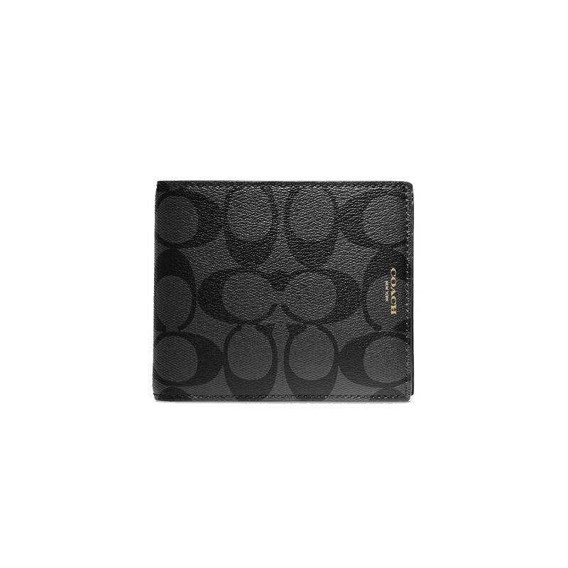 【COACH 時尚男士短夾】COACH 74586 BLEECKER系列短夾男士錢包可拆卸獨立名片夾短款 0
