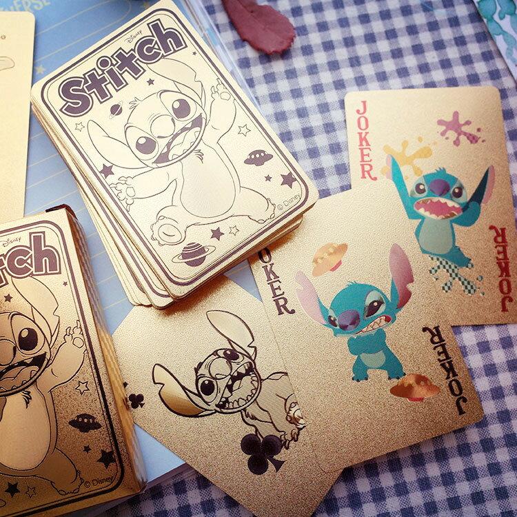 PGS7 迪士尼系列商品 - 迪士尼 金箔 撲克牌 史迪奇 Stitch 小熊維尼 Winnie Pooh 撲克【SFB7080】