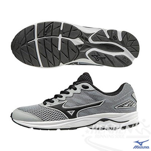 MIZUNO美津濃WAVERIDER20Jr.大童鞋(灰*黑)親子鞋