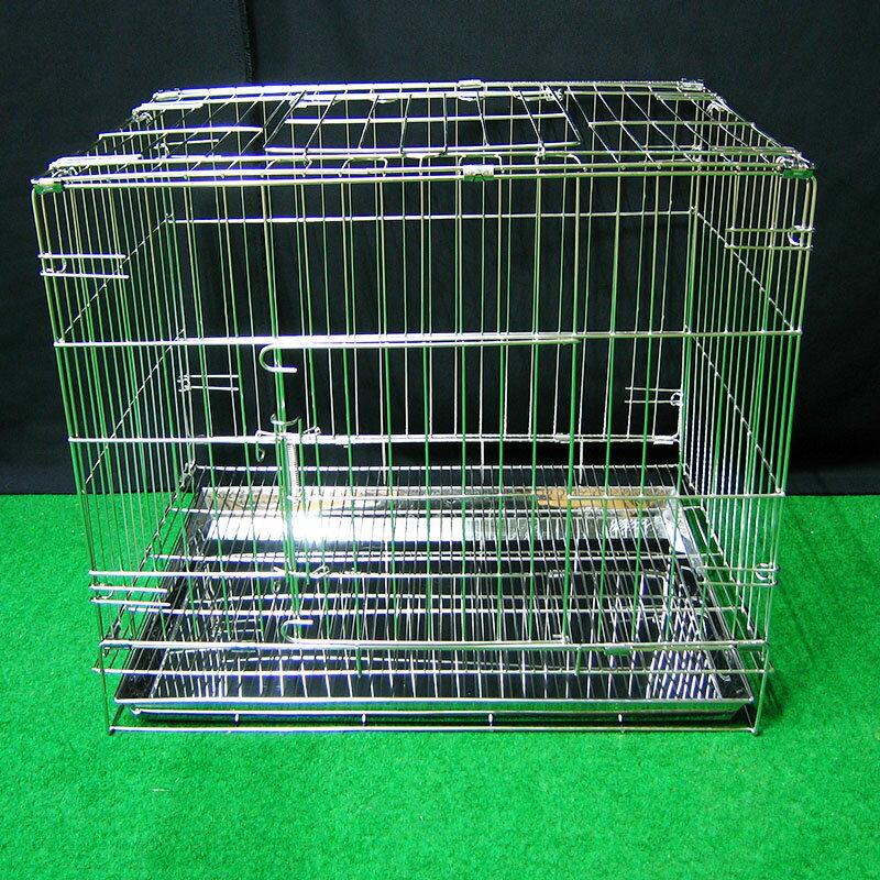 (缺貨中)寵物屋 兔窩 寵物籠 圍欄 隔板 尿盤 底網 2尺折疊式兔籠 吊籠 不鏽鋼摺疊2尺白鐵線籠 空間特工