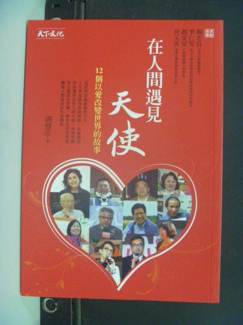 【書寶二手書T5/勵志_KPE】在人間遇見天使:12個以愛改變世界的故事_胡慧中