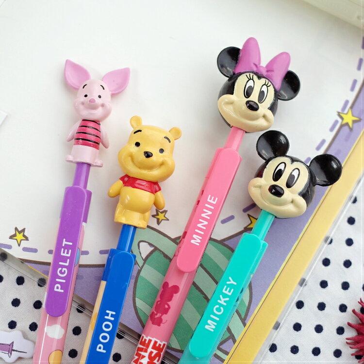 PGS7 迪士尼系列商品 - 迪士尼 公仔 筆 造型筆 米奇 Mickey 米妮 Minnie 維尼 Winnie 小豬 Pig【SHZ7179】